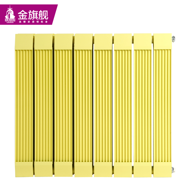 铜铝复合暖气片80x60黄色