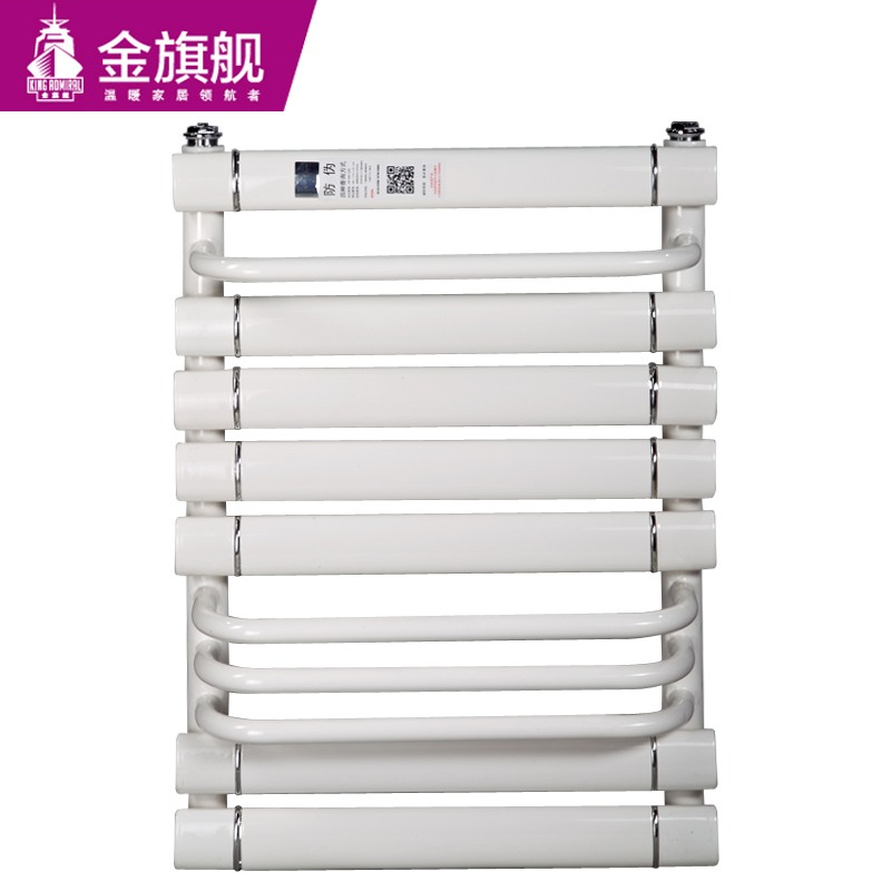 铜铝卫浴暖气片单层搭接600白色