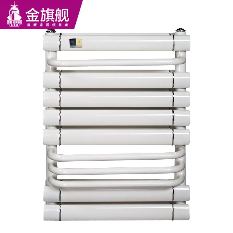 铜铝卫浴暖气片双层搭接背篓600白色