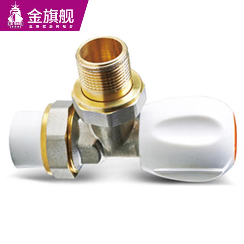 暖气片配件-6分PPR接口温控角阀