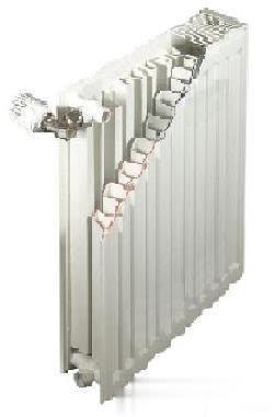 铜铝复合暖气片结构
